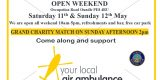 OBC Open Weekend Saturday 11th May & Sunday 12th May